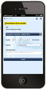 access control by Smartphone