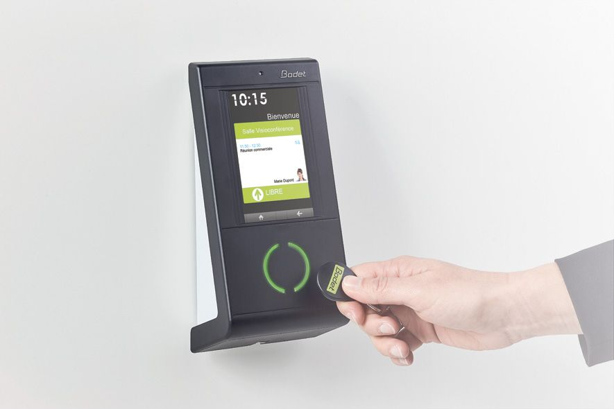 Kelio access clocking terminal and access badge