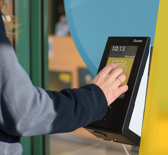 A clocking terminal that controls access and security of your premises