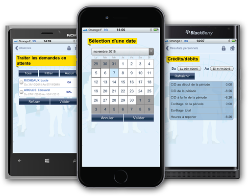 time & attendance management on smartphone