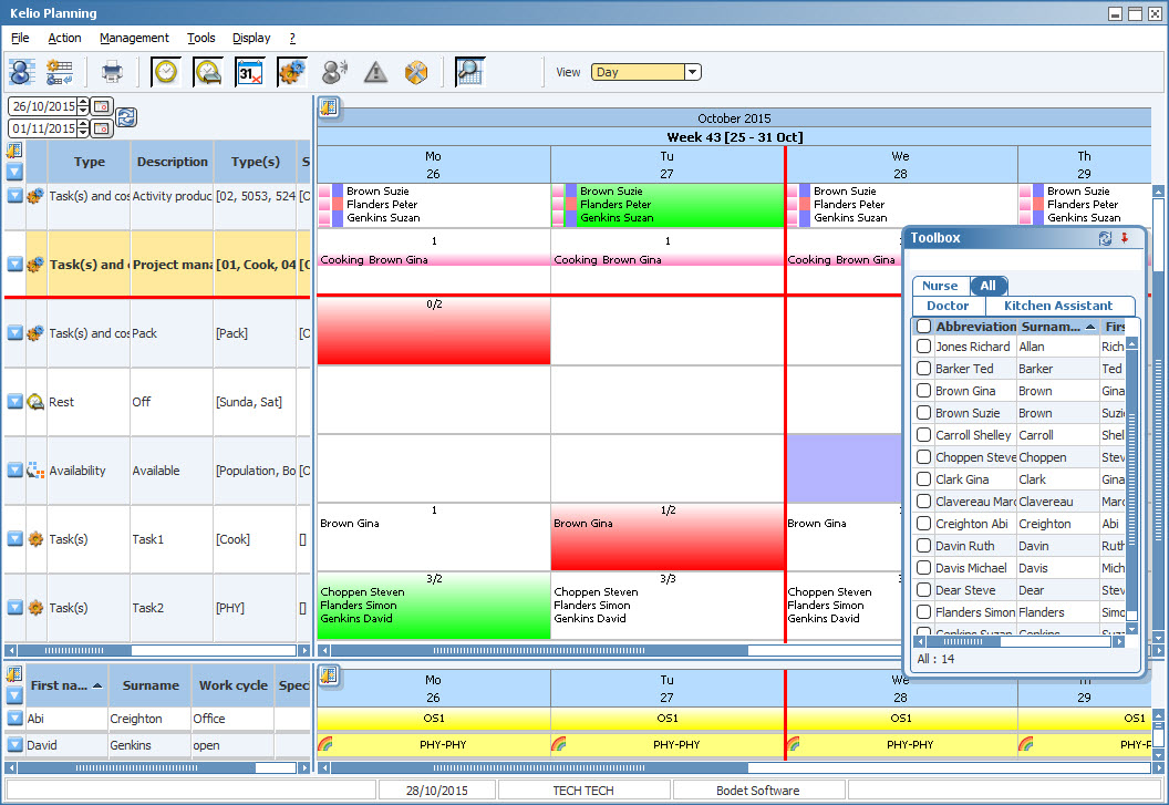 Plan post planning with toolbox and availability